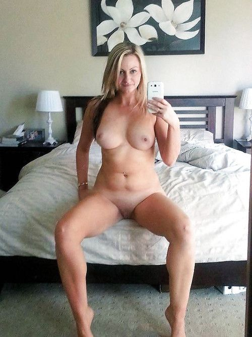 Blonde shaved wife