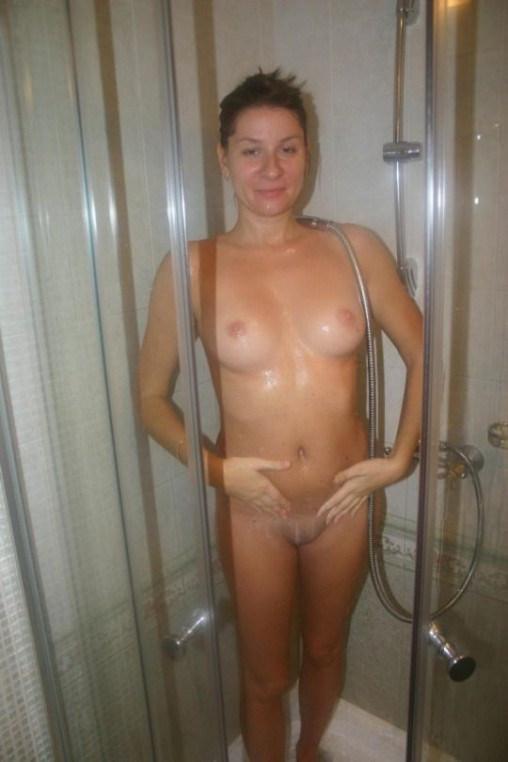 Shaved and showered MILF pussy is ready