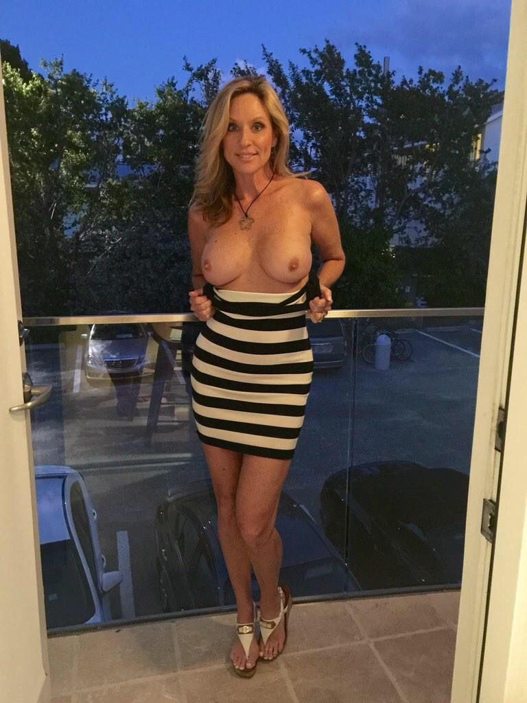 Excellent milf flashing tits history!